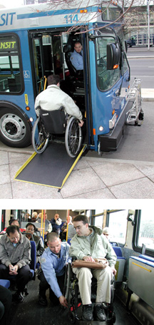 CT Public Buses are Wheelchair Accessible